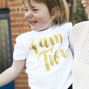 'I Am Two' Script Birthday T Shirt