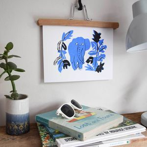 'Elephantastic' Elephant Illustrated Children's Print - pictures & prints for children