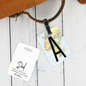 Personalsied 'World Map' Luggage Tag