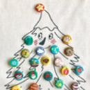 Personalised Badge Christmas Sack Advent Calendar
