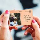Personalised Copper Photo Postcard