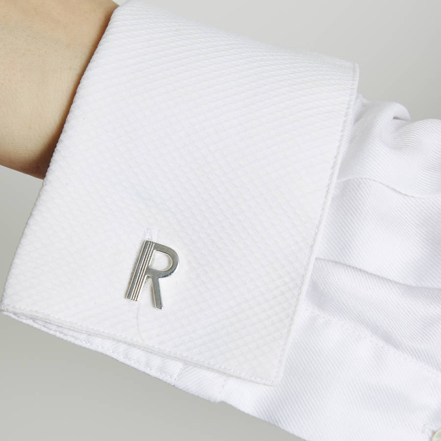 art deco initial cufflinks