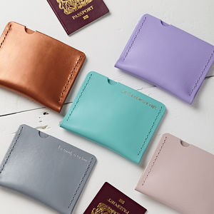 Personalised Passport Holder - travel wallets