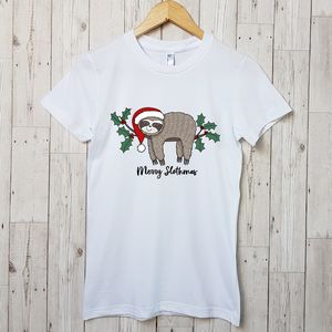 Merry Slothmas Christmas T Shirt