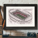 Father's Day Illustrated Emirates Stadium Print