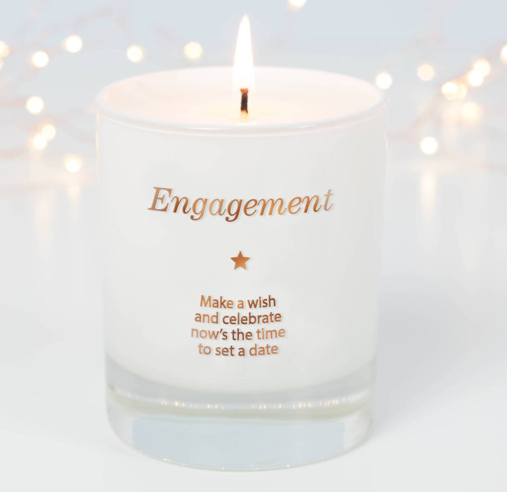 Make A Wish For Your Engagement Candle