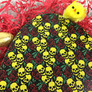 Large Chocolate Easter Egg With Skulls And Roses Design