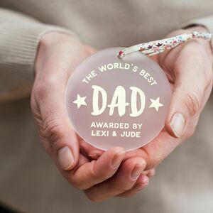 Personalised World's Best Dad Keepsake Decoration
