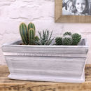 White Wooden Planter Personalised for Mother's Day