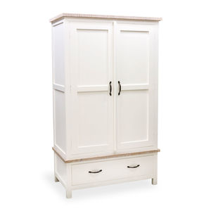 Bayonne Two Door Double Wardrobe White Or Grey - bedroom