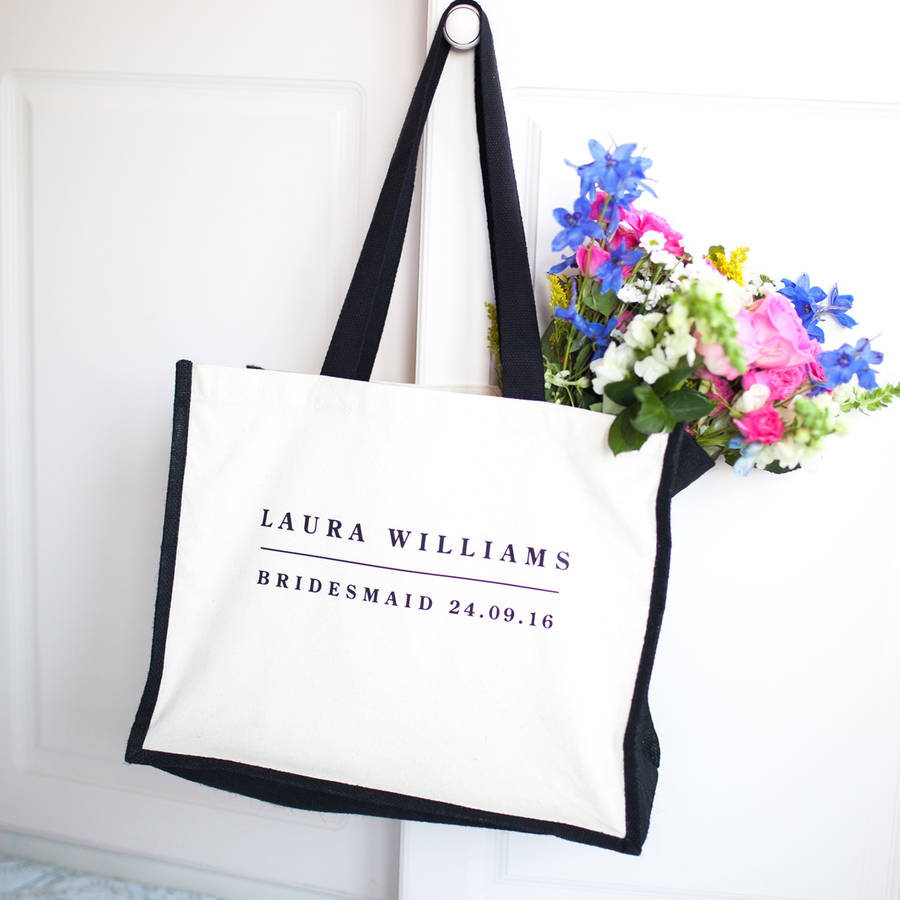 Rosie Willett Designs Personalised Bridesmaid Bag