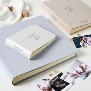 Personalised Welcome To The World New Baby Photo Album