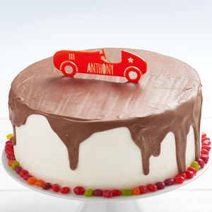 Personalised Car Birthday Cake Topper - decoration