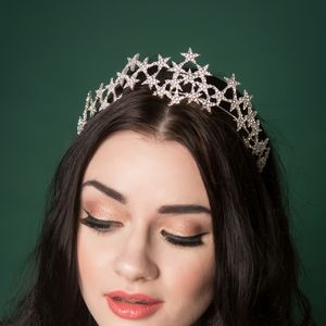 Star Constellation Diamante Tiara - hair accessories