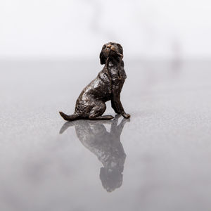 Miniature Bronze Labrador Statue - ornaments