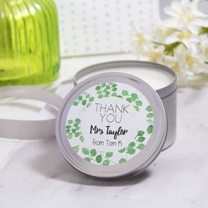 Personalised Thank You Teacher Scented Tin Candle - dining room
