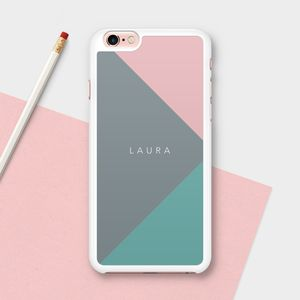 Personalised Coloured Triangles iPhone Case - womens