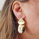 Moden Shape Gold Drop Earrings