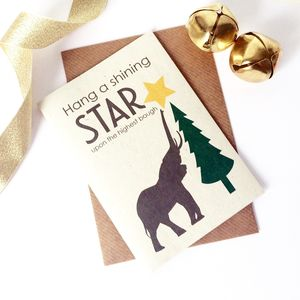 Star Elephant Christmas Card - christmas card packs