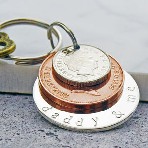 'Daddy And Me' Key Ring - personalised