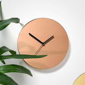 Metallic Copper Wall Clock