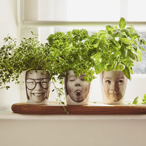 Personalised 'Face Plant' Photograph Plant Pot - personalised gifts