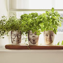 Personalised 'Face Plant' Photograph Plant Pot