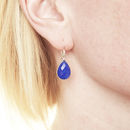 Ashiana Navy Jade Earrings In Silver