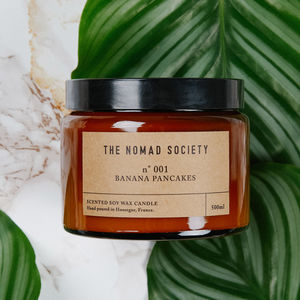 Banana Pancakes Scented Soy Candle - waterloo pop up