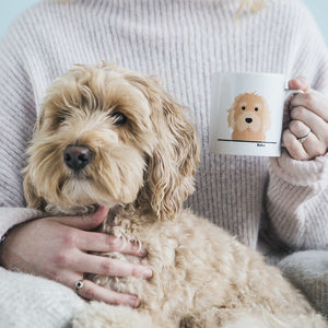 Personalised 'All You Need Is Love And A Dog' Mug - gifts under £25