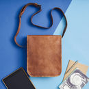 Leather Messenger Day Bag