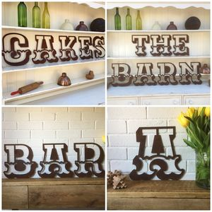 Rusted Fairground Font Letters A To Z - room decorations