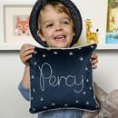 Starry Night Personalised Name Velvet Cushion