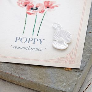 Poppy Solid Silver Charm
