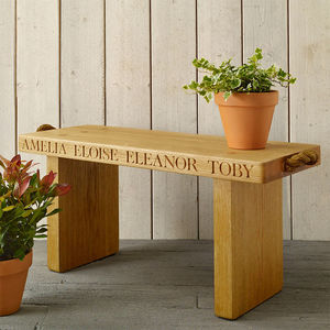 Personalised Solid Oak Bench - valentines lust list