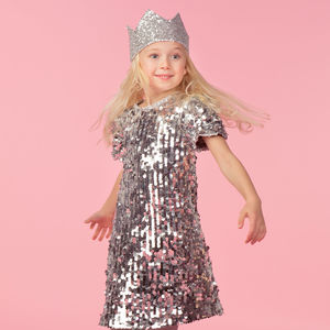 Coco Silver Super Sequin Dress - clothing