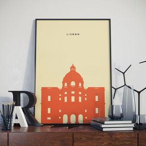 Lisbon National Pantheon Landmark Print
