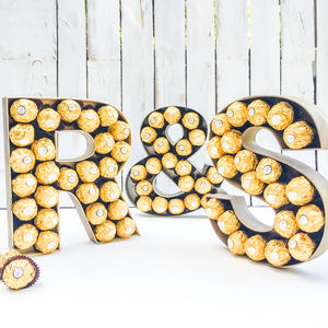 Large Wooden Ferrero Rocher Letters