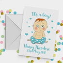 Personalised Baby Boy Card A5