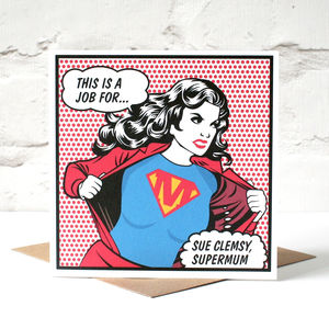 'Supermum' Personalised Card For Mum - view all gifts