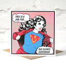 'Supermum' Personalised Card For Mum