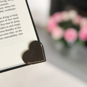 Heart Shaped Leather Bookmark