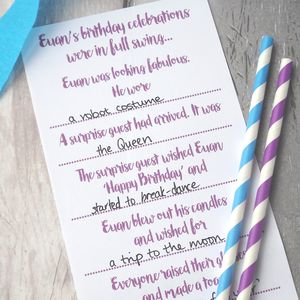 Personalised Birthday Party Game