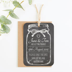 Chalkboard Jar Save The Date
