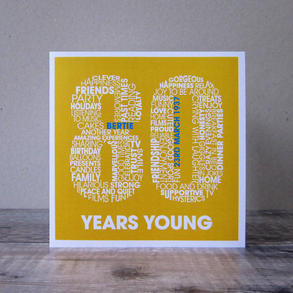 personalised 80th birthday card by mrs l cards – 80 Birthday Card