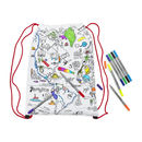 Colour In World Map Backpack