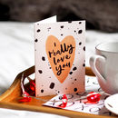 Brush Lettered Valentine's Day Card
