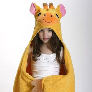 Personalised Jaime The Giraffe Hooded Towel