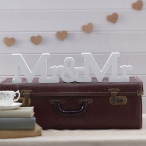 Mr And Mr Wooden Wedding Sign