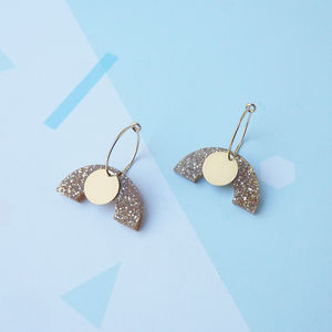 Drop Curve Earrings - earrings